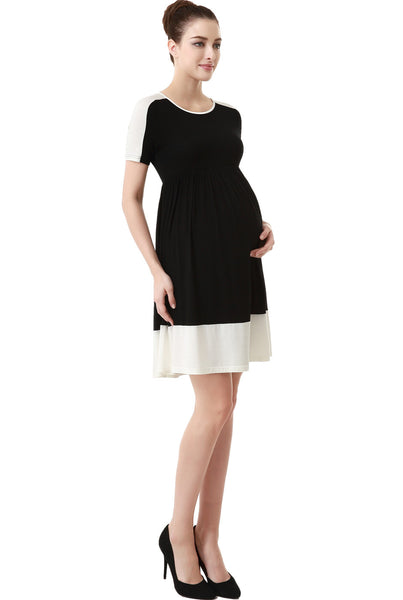 "Kimi + Kai Maternity ""Amelia"" Colorblock Skater Dress"