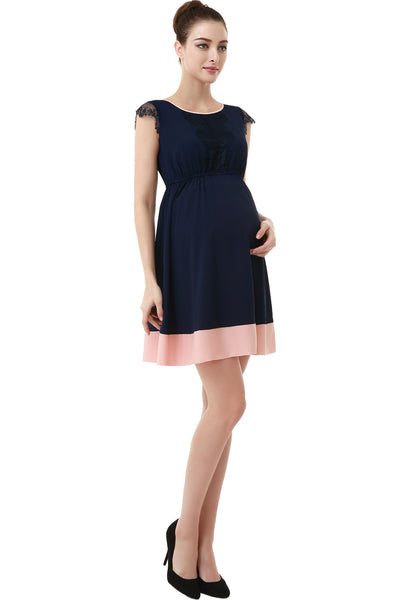 "Kimi + Kai Maternity ""Nell"" Colorblock Skater Dress"