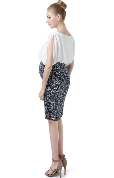 "Kimi + Kai Maternity ""Aylena"" Dolman Sleeve Printed Dress"