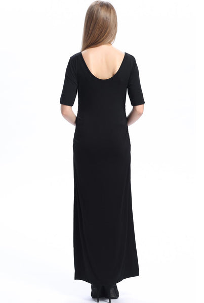 "Kimi + Kai Maternity ""Isla"" Maxi Dress with Side Slit"