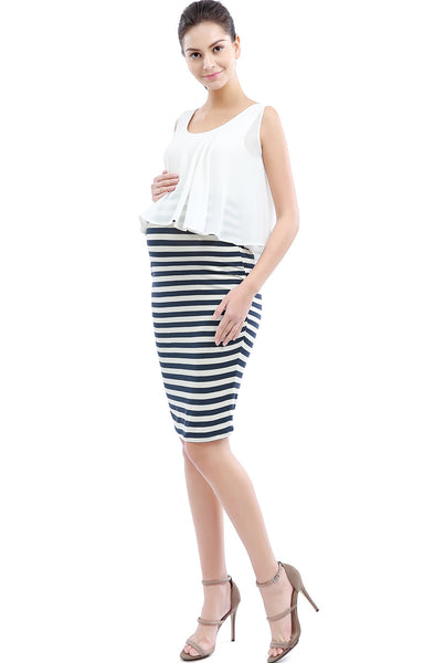 "Kimi + Kai Maternity ""Anastasia"" Double Layer Pencil Dress"