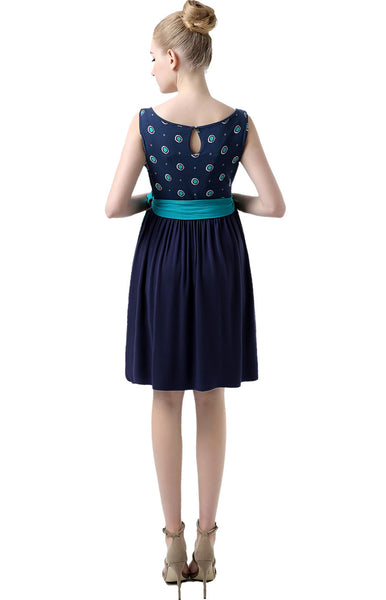 "Kimi + Kai Maternity ""Eliana"" Polka Dot Print Midi Dress"