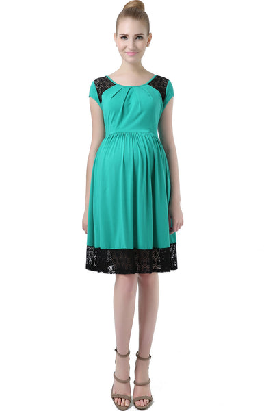 kimi kai maternity hazel lacey accent skater dress 2
