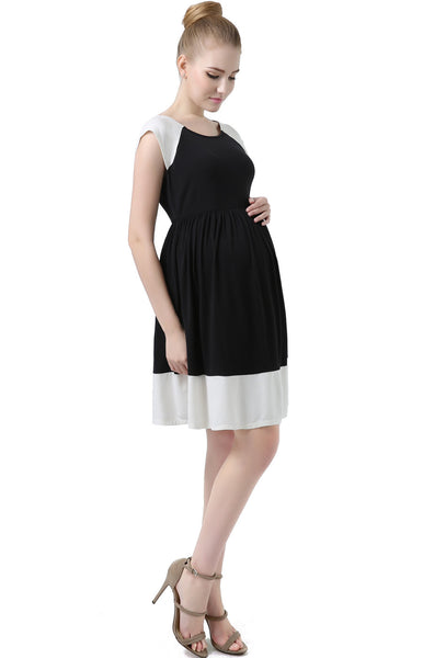 "Kimi + Kai Maternity ""Andie"" Colorblock Skater Dress"