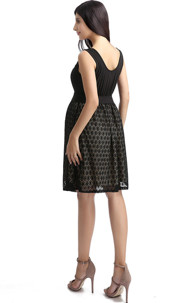 "Kimi + Kai Maternity ""Livi"" Lace Skater Dress"
