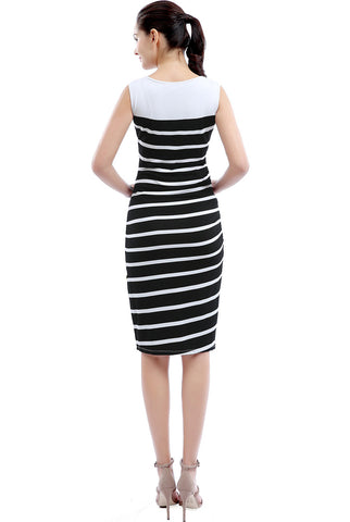 "Kimi + Kai  Maternity ""Shea"" Striped Button Down Dress"