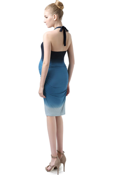 "Kimi + Kai Maternity ""Georgia"" Ombre Halter Neck Body Con Dress"