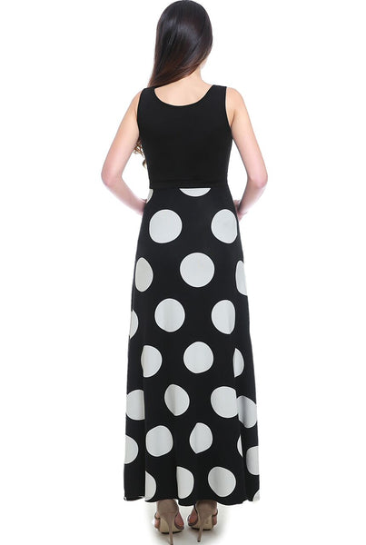 "Kimi + Kai Maternity ""Courtney"" Polka Dot Maxi Dress"