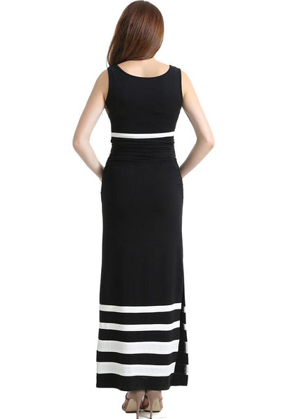 "Kimi + Kai Maternity ""Amy"" Striped Maxi Dress"