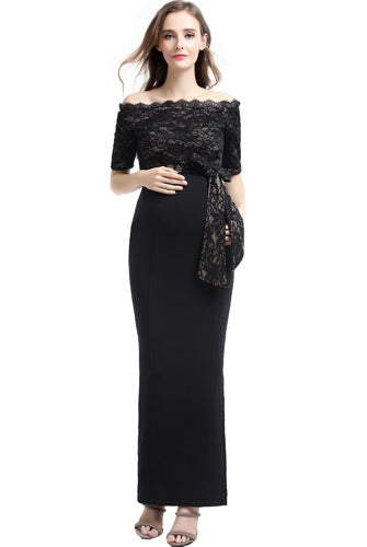 "Kimi + Kai Maternity ""Everly"" Maxi Bodycon Dress"