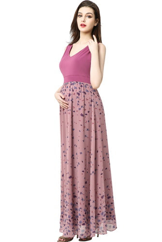 Kimi + Kai Maternity ''Armanda'' Printed Maxi Dress