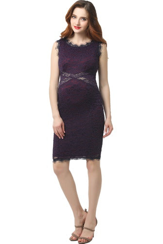 "Kimi + Kai Maternity ""Lynn"" Lace Midi Dress"
