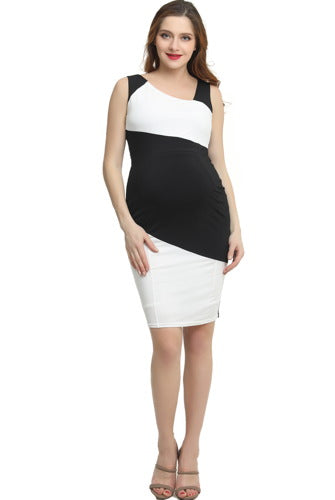"Kimi + Kai Maternity ""Nessa"" Colorblock Midi Dress"