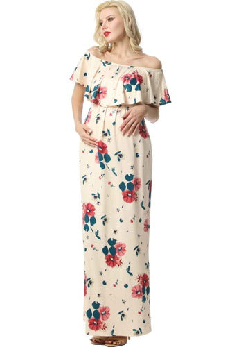 "Kimi + Kai Maternity ""Erica"" Floral Nursing Maxi Dress"