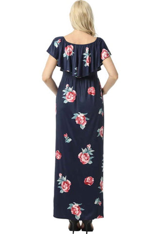"Kimi + Kai Maternity ""Maddison"" Nursing Maxi Dress - Plus"