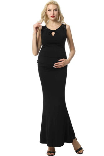 "Kimi + Kai Maternity ""Cate"" Mermaid Maxi Dress"