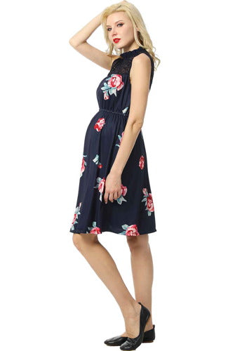 "Kimi + Kai Maternity ""Cindy"" Floral Baby-doll Dress"