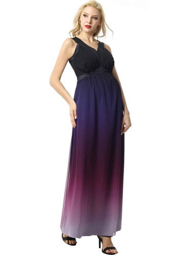 "Kimi + Kai Maternity ""Valencia"" Ombre Maxi Dress"