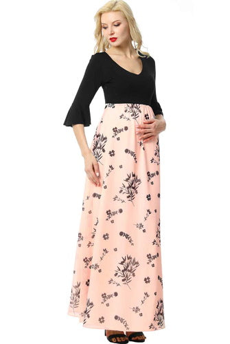 "Kimi + Kai Maternity ""Zora"" Floral Maxi Dress"