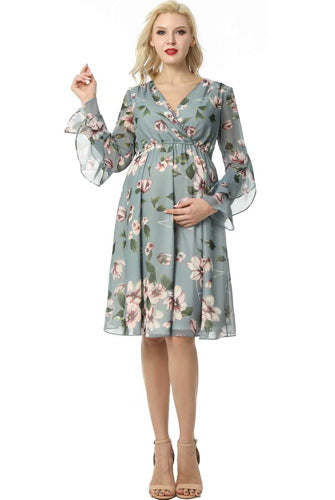"Kimi + Kai Maternity ""Salena"" Floral Skater Dress"