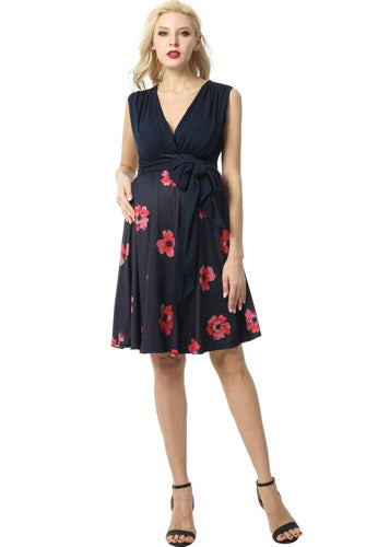 "Kimi + Kai Maternity ""Layla"" Floral Nursing Dress - Plus"