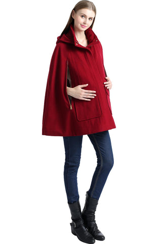 "Kimi + Kai Maternity ""Robin"" Wool Blend Cape Coat"