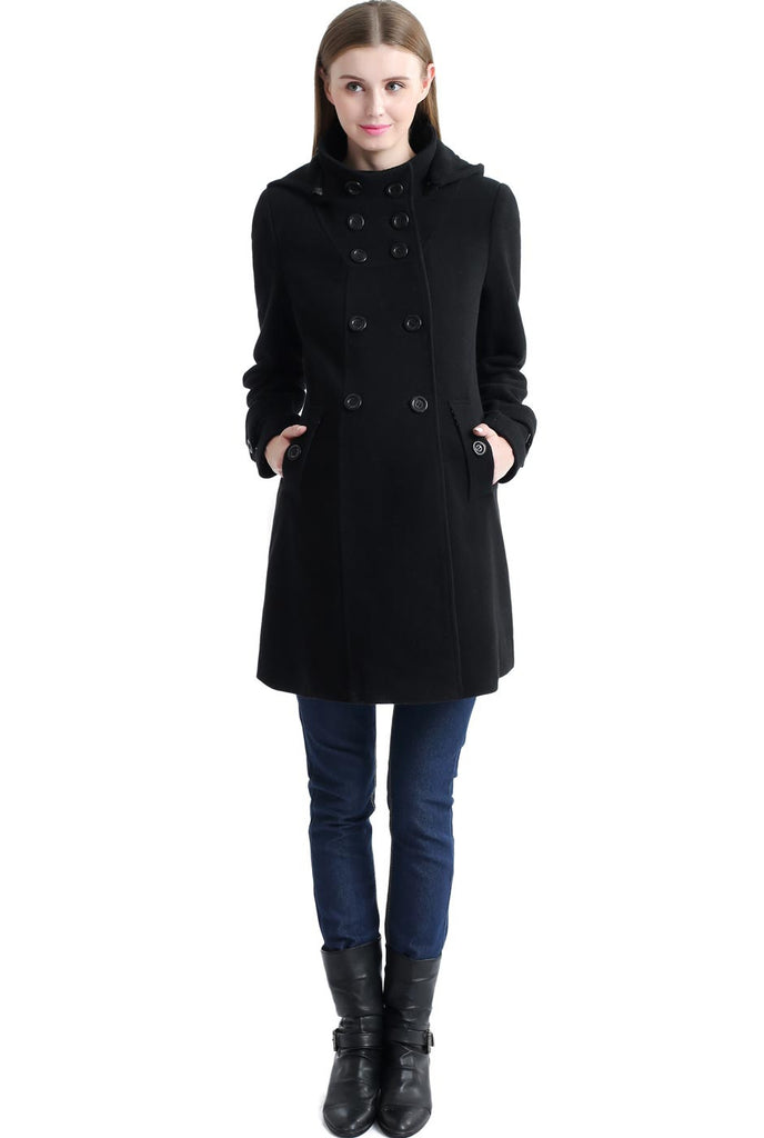 "Kimi + Kai Maternity ""Penelope"" Wool Blend A-Lined Coat"