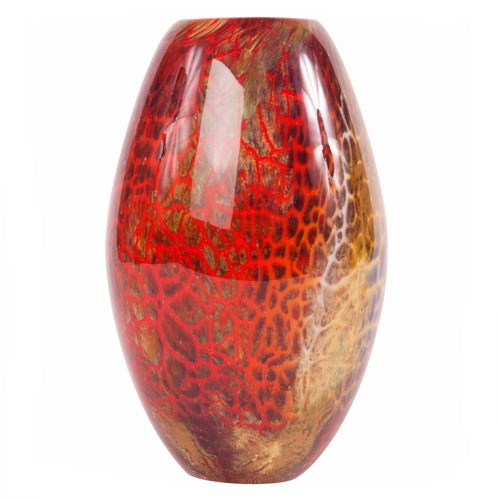 Luxury Lane Hand Blown Multicolor Abstract Art Glass Vase 9.5