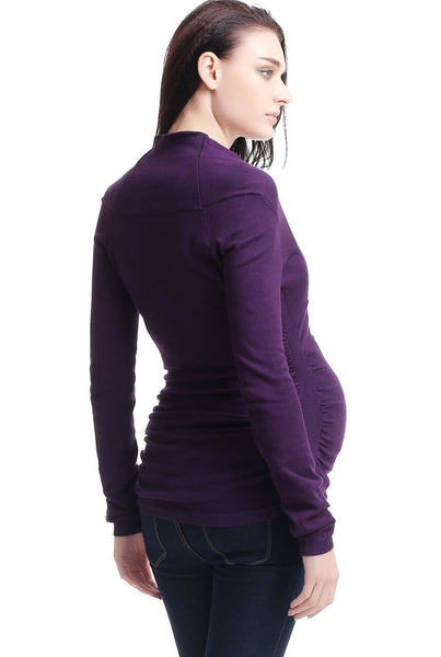 "Kimi + Kai Maternity ""Olivia"" V-Neck Empire Waist Sweater"