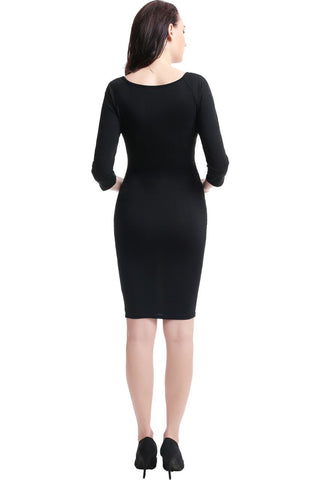 "Kimi + Kai Maternity ""Dani"" Henley Midi Dress"