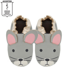 Load image into Gallery viewer, Kimi + Kai Unisex Soft Sole Leather Baby Shoes - Mouse