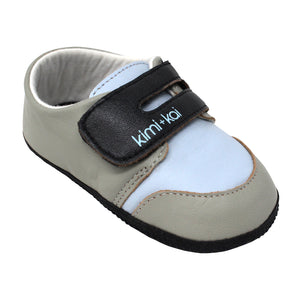 Kimi + Kai Boys Soft Sole Lambskin Leather Shoes (First Walker & Toddler)