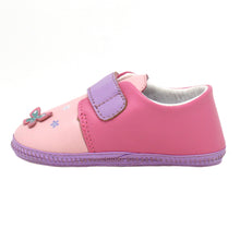 Load image into Gallery viewer, Kimi + Kai Girls Soft Sole Lambskin Leather Shoes - Butterfly (First Walker & Toddler)