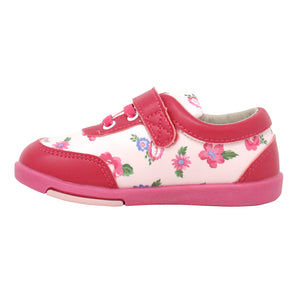 "Kimi + Kai Girl's ""Chloe"" Floral Sneaker Shoes (First Walker & Toddler)"