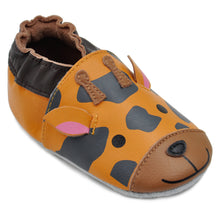 Load image into Gallery viewer, Kimi + Kai Unisex Soft Sole Leather Baby Shoes - Giraffe