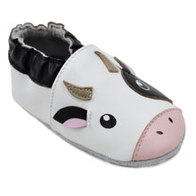 Load image into Gallery viewer, Kimi + Kai Unisex Soft Sole Leather Baby Shoes - Cow