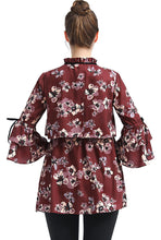 "Load image into Gallery viewer, Kimi + Kai  ""Gracie"" Maternity/Nursing Floral Print Blouse"