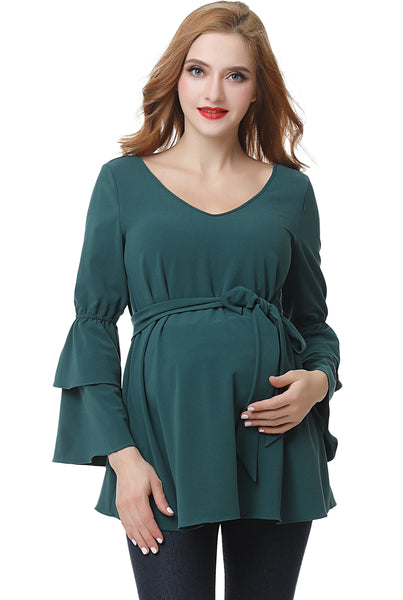 "Kimi + Kai ""Stevie"" Peasant Maternity Blouse"
