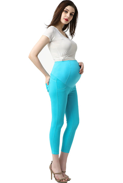 "Kimi + Kai Maternity ""Tia"" Cropped Jeggings"