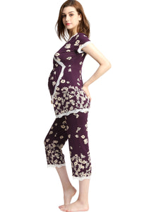 "Kimi + Kai ""Addison"" Maternity & Nursing Pajamas Sleepwear Set"