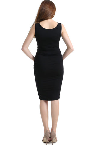 "Kimi + Kai Maternity ""Delia"" Ruched Midi Dress"