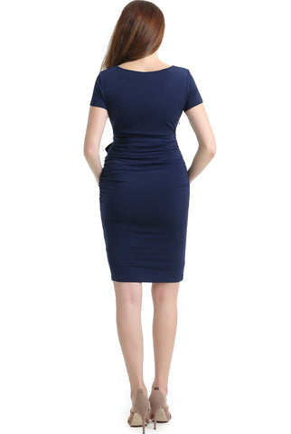 "Kimi + Kai Maternity ""Lana"" Ruched Belted Dress"