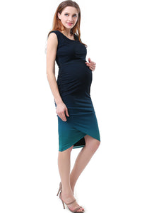 "Kimi + Kai Maternity ""Sloan"" Ombre Wrap Bottom Dress"