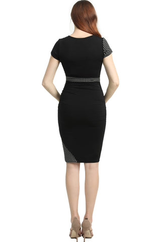 "Kimi + Kai Maternity ""Gabby"" Colorblock Bodycon Midi Dress"