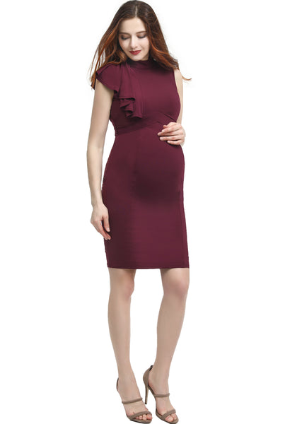 "Kimi + Kai Maternity ""Josephine"" Ruffle Sheath Dress"