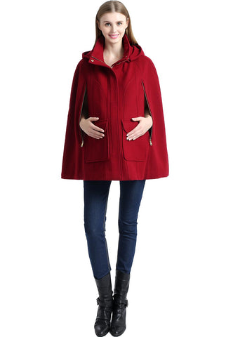 "Kimi + Kai Maternity ""Robin"" Wool Blend Cape"