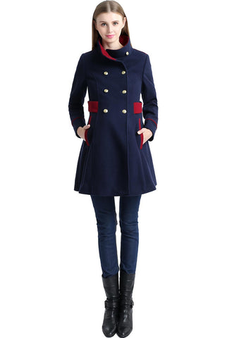 "Kimi + Kai Maternity ""Pan"" Wool Blend Military Inspired Pea Coat (Featured in the Pregnancy & Newborn Magazine's Fall 2016 Buyer's Guide)"