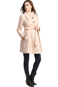 "Kimi + Kai Maternity ""Adriena"" Wool Blend Trench Coat"