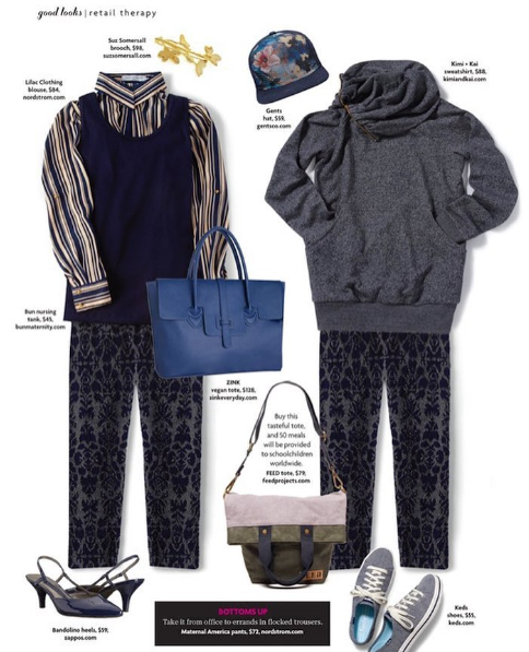 "Kimi + Kai ""Thea"" Zip Collar Maternity Sweatshirt (Featured in Pregnancy & Newborn Magazine)"