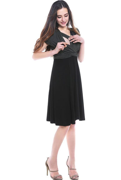 "Kimi + Kai Maternity ""Sarah""Faux Wrap Nursing Dress"